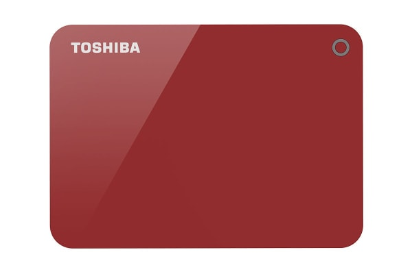 Toshiba Canvio Advance V9 USB 3.0 Portable External Hard Drive 1TB - Red (HDTC910AR3AA)