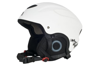 Trespass Adults Skyhigh Protective Snow Sport Ski Helmet (White)