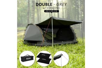 Swag Double with Free Standing - GREY