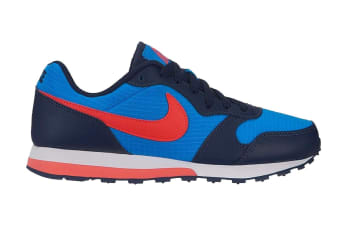 Nike MD Runner 2 (Blue/Bright Crimson, Size 5.5Y US)