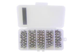 100 x Size 00 Fishing Ball Sinkers in Tackle Box