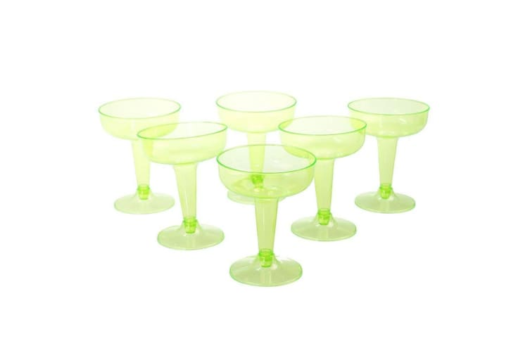 24 x COLORED 100 ML DISPOSABLE PARTY PLASTIC COCKTAIL MARTINI GLASS CUPS WEDDING