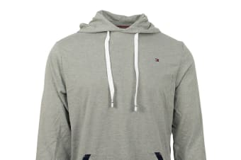 Tommy Hilfiger Men's Jersey Hoodie With Contrast Rib (Grey Heather)