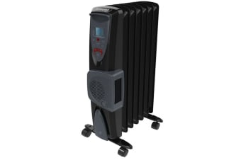 Dimplex 1.5kW Electric Oil-Free Eco Column Heater w/Climate Control/Turbo Fan BK