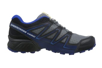 Salomon Men's Shoes Speedcross Vario Pearl (Grey/Black/Blue, Size 10.5)