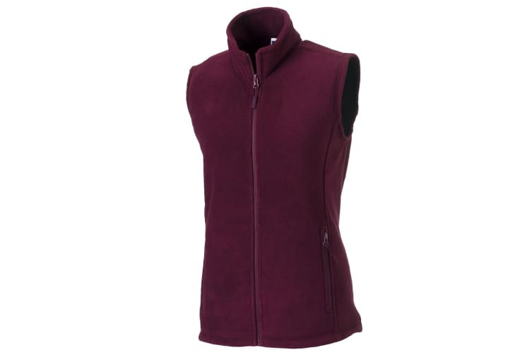 Russell Europe Womens/Ladies Outdoor Full-Zip Anti-Pill Fleece Gilet Jacket (Burgundy) (XL)