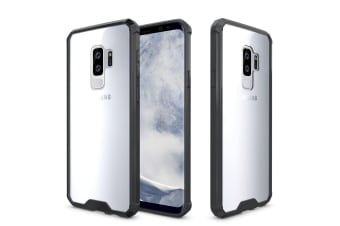 For Samsung Galaxy S9 PLUS Back Case Shockproof Transparent Armour Cover Black