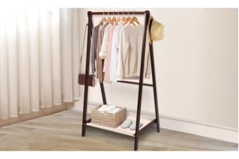 Wooden Garment Coat Clothes Stand Rack