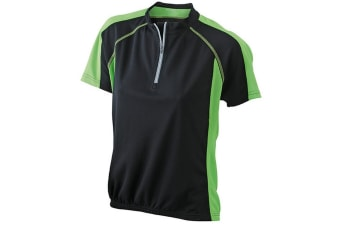 James and Nicholson Womens/Ladies Bike Top (Black/Lime Green) (M)