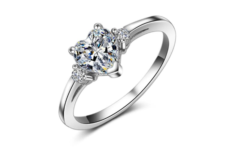 Style 925 Silver Plated Simple Crystal Band 9