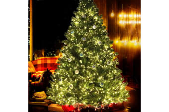 Jingle Jollys 2.1M 7FT Christmas Tree Xmas 3000 LED Lights Warm White 1250 Tips