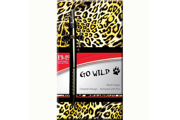 Notebook Blank Pages Cheetah Skin Design