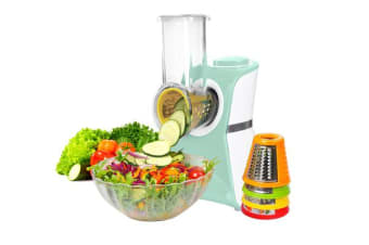 TODO 2 In 1 Frozen Fruit Dessert Maker Electric Salad Maker Food Chopper Shredder - Blue