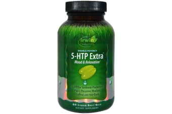 Irwin Naturals Double Potency 5-HTP Extra - 60 Liquid Soft-Gels