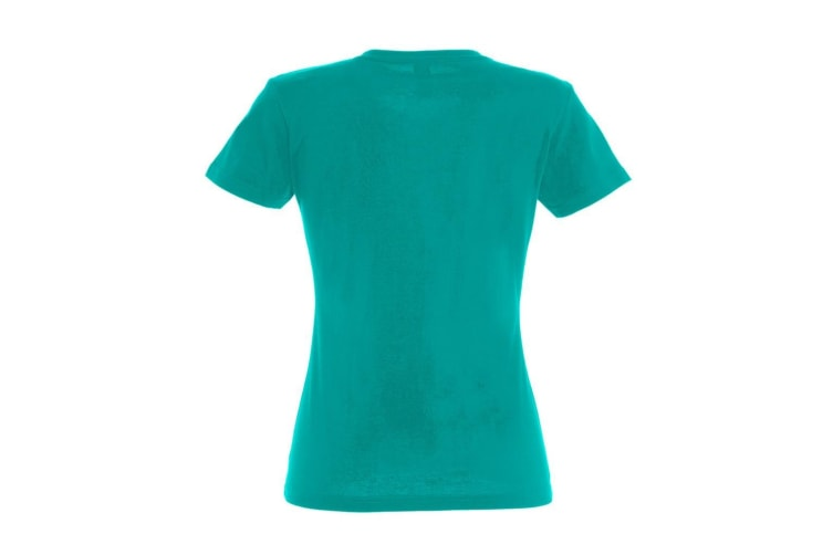 SOLS Womens/Ladies Imperial Heavy Short Sleeve T-Shirt (Emerald) (L)