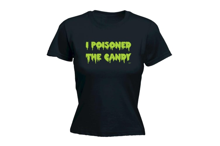 123T Funny Tee - I Poisoned The Candy - (X-Large Black Womens T Shirt)