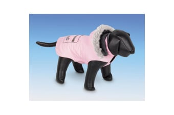 Nobby Iffy Fleece Lined Hooded Dog Coat (Pink)