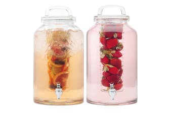 2pc Maxwell & Williams Refresh 8.5L Water Glass Drink Dispenser Infuser Beverage