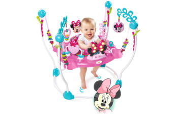 Bright Stars Disney Minnie Mouse Jumper w/ Sounds/Lights/Toys/Tray for Baby