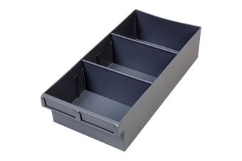 400Mm Large Spare Parts Tray Grey  Drawer With Dividers