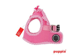 Puppia Gingham Vest Pink - Small