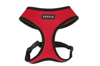 Puppia Soft Mesh Dog Harness Red - L