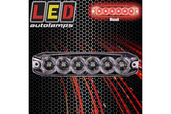 LED RED CLEAR FLASHING POLICE EMERGENCY STROBE WARNING LIGHTS BEACON CAR TRUCK