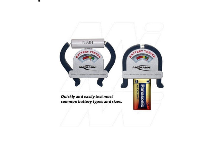 Ansmann Battery Tester Testing of most sizes of consumer type batteries