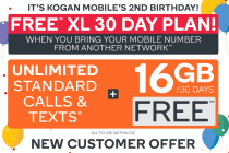 FREE Kogan Mobile Prepaid Voucher Code: BRING YOUR OWN NUMBER - XL (30 Days | 16GB)