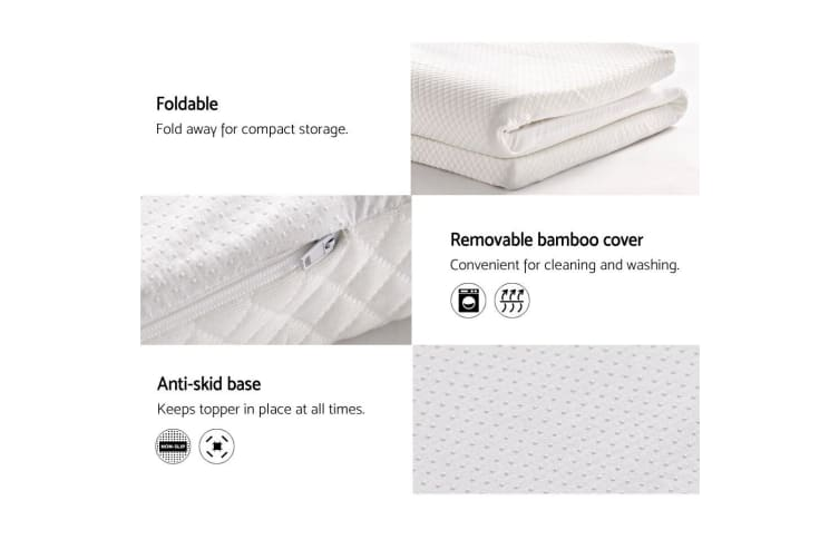 Giselle Bedding Memory Foam Mattress Topper DOUBLE SIZE 7CM Underlay Cover Bed