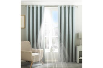 Riva Home Eclipse Blackout Eyelet Curtains (Duck Egg) (90 x 54in (229 x 137cm))