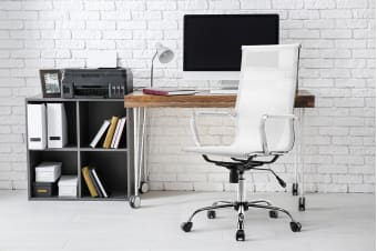 Ergolux Eames Replica High Back Mesh Office Chair (White)
