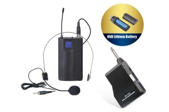 Wireless Uhf Headset Microphone Rechargeable Lithium Battery Mic Tjp-L11U