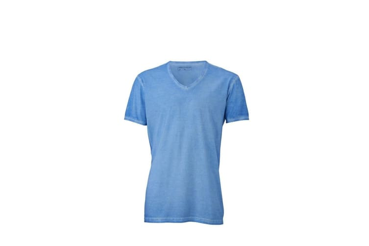 James and Nicholson Mens Gipsy T-Shirt (Horizon Blue) (XL)