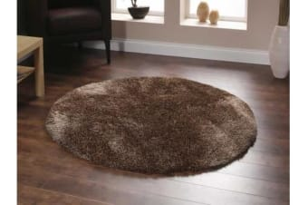 Twilight Shag Rug - Latte 120x120cm