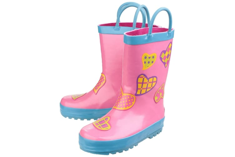 Cotswold Childrens Puddle Boot / Girls Boots (Hearts) (31 EUR)