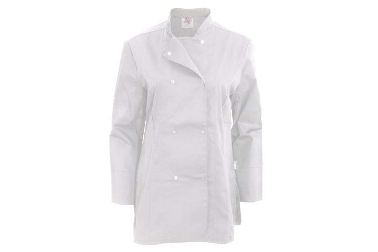 Dennys Womens/Ladies Long Sleeve Fitted Chef Jacket (White) (L)