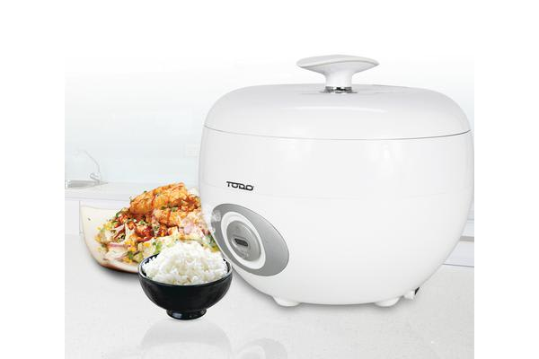 TODO 1.2L Rice Cooker 6 Cup Capacity White