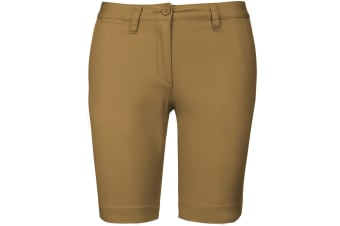 Kariban Womens/Ladies Chino Bermuda Shorts (Camel) (10 UK)