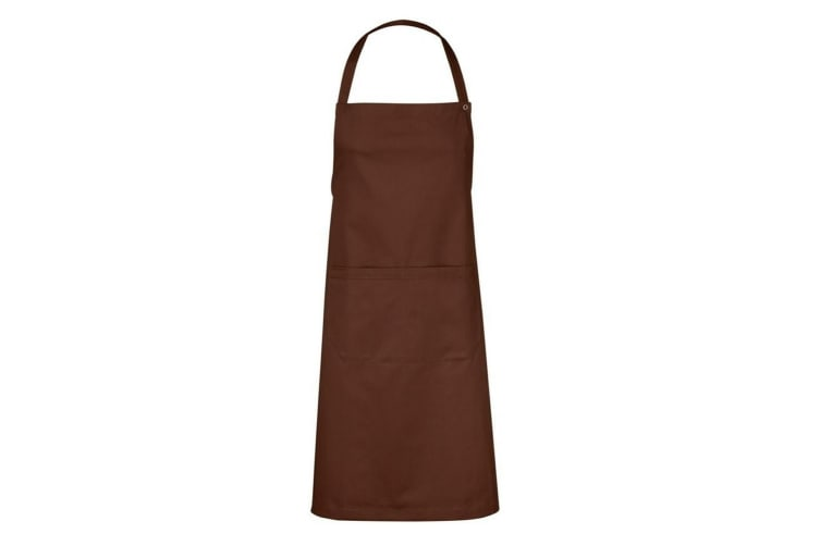 ID Adjustable Apron With Pocket (Mocca) (One size)