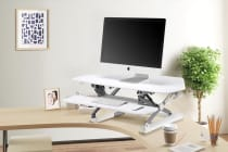 Ergolux Corner Height Adjustable Sit Stand Desk Riser (White)
