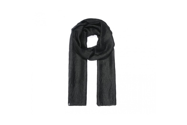 Intrigue Womens/Ladies Shimmery Scarf (Black) (One Size)