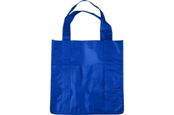 Bullet Savoy Laminated Non-Woven Grocery Tote (Royal Blue) (33 x 25 x 38 cm)