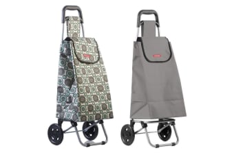 Typhoon Grand Floral Grey Grocery Shopping Cart Trolley Portable Foldable Bag
