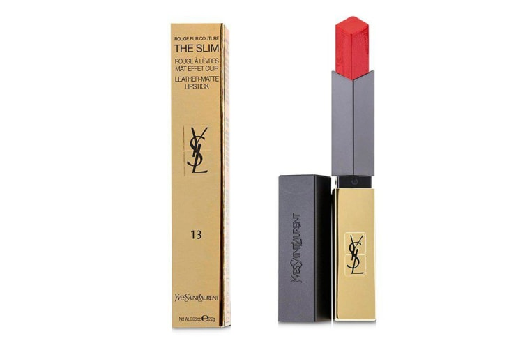 Yves Saint Laurent Rouge Pur Couture The Slim Leather Matte Lipstick - # 13 Original Coral 2.2g
