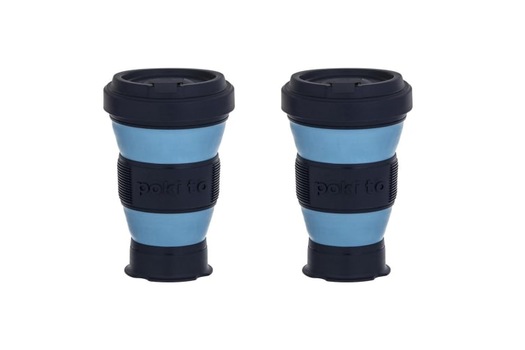 2x Pokito 475ml Hot Cold Pop Up Cup Collapsible Reusable Travel Eco-Friendly BL