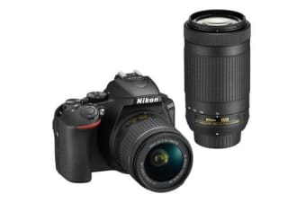 New Nikon D5600 Kit AF-P (18-55 VR) (70-300) Digital Camera Black (FREE DELIVERY + 1 YEAR AU WARRANTY)