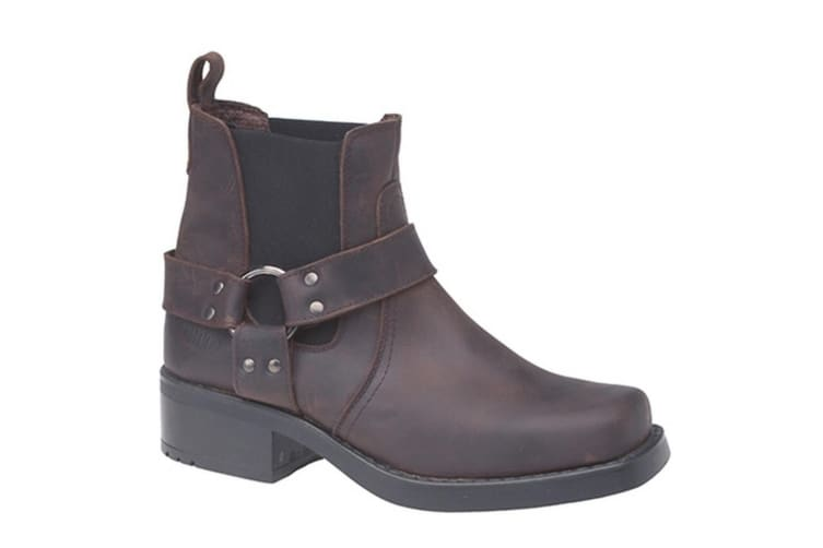 Woodland Mens Low Harley Gusset Harness Leather Boots (Brown) (6 UK)