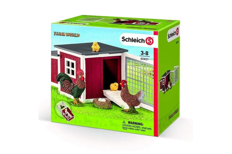 Schleich Farm World Chicken Coop Set