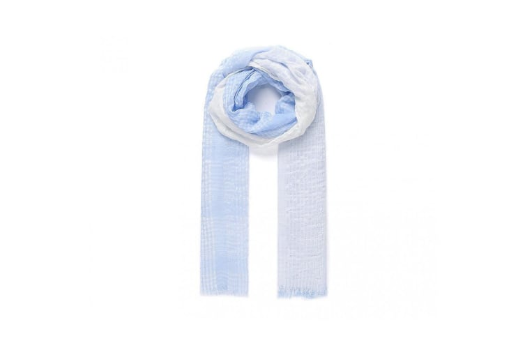 Intrigue Womens/Ladies Striped Viscose Scarf (Blue) (One Size)